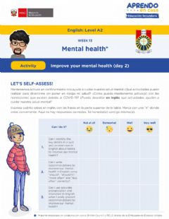 Interactive worksheet Improve your mental health - W-13 (A2)