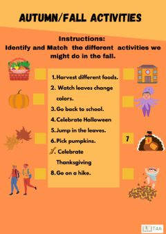 Interactive worksheet Fall Activities