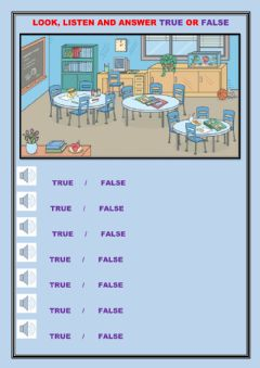 Interactive worksheet Listen and Answer True or False