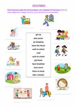 Interactive worksheet Routines and adverbs of frequency