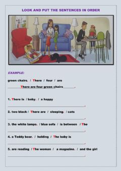 Ficha interactiva Look and put the sentences in order.