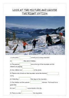 Interactive worksheet Describing a photo II