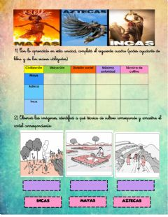 Interactive worksheet Incas mayas y aztecas