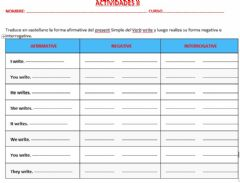 Interactive worksheet Presente simple II