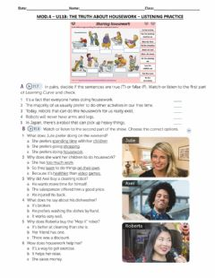 Interactive worksheet Mod.4.U11B.The truth about housework