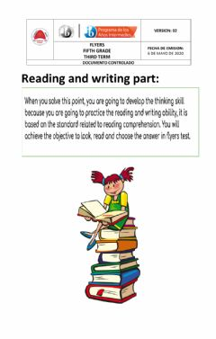 Ficha interactiva Flyers reading and writing 1
