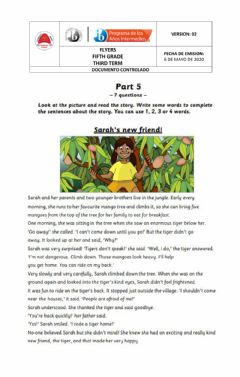 Ficha interactiva Flyers reading and writing 2