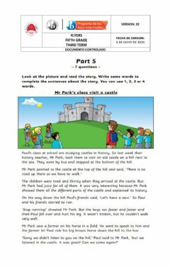 Ficha interactiva Flyers 2 reading and writing 2