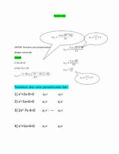 Interactive worksheet Persamaan Kudrat