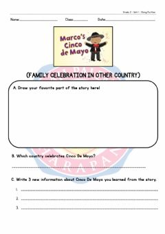 Interactive worksheet Cinco de Mayo