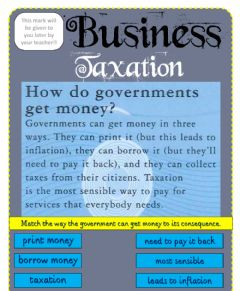 Interactive worksheet Business - Tax