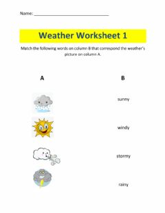 Ficha interactiva Learning the Weather