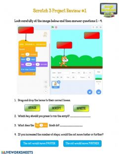 Interactive worksheet Introduction to Scratch