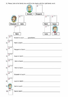Interactive worksheet Family Tree Medium difficulty
