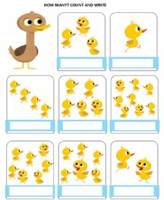 Interactive worksheet How many ducks?