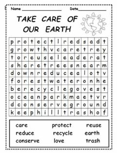 Interactive worksheet Taking care of the environment