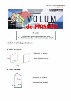 Interactive worksheet El volum de prismes