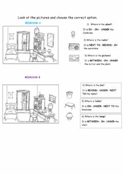 Interactive worksheet Furniture and objects at home