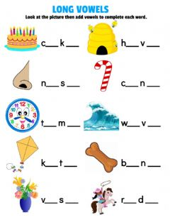 Interactive worksheet Long vowels