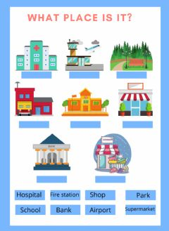 Interactive worksheet What place is it?