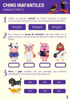 Interactive worksheet Vocabulario Animales Parte 1