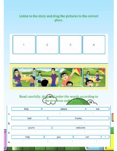 Interactive worksheet Practice:Story-My kite!