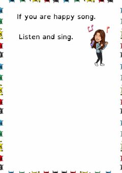 Interactive worksheet If you are happy song