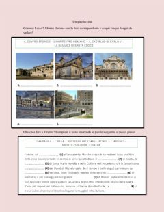 Interactive worksheet Un giro in città