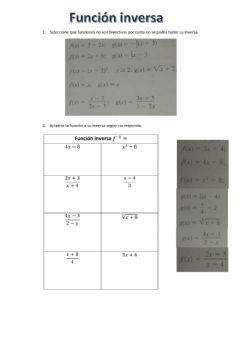 Interactive worksheet Función inversa