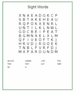 Interactive worksheet Word seach