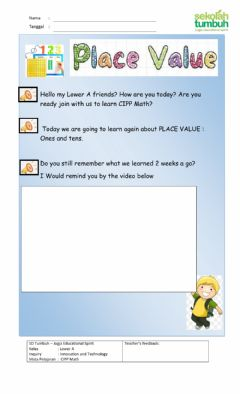 Interactive worksheet Place Value (Hundreds, Tens, Ones)