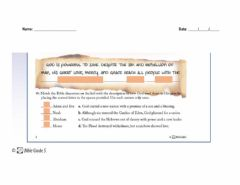 Interactive worksheet God-s redemptive plan