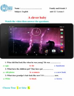 Interactive worksheet A clever baby