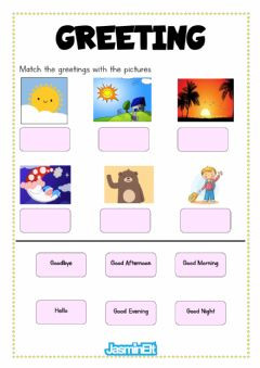 Interactive worksheet Greeting