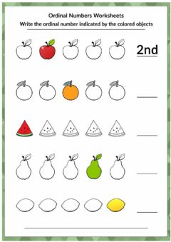 Ficha interactiva Ordinal Numbers write abbreviation