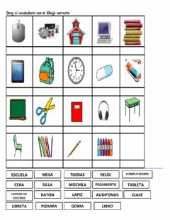 Interactive worksheet La escuela, ficha 5