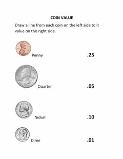 Interactive worksheet Coin Value