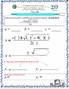 Interactive worksheet 903 cuadratic