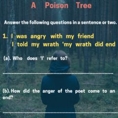 Ficha interactiva Unit 2-  poem- a poison tree