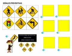 Ficha interactiva Señales de  transito preventivas