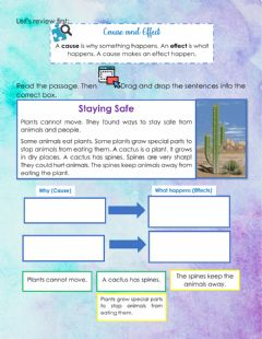 Interactive worksheet Third term questionnaire: reading and writing