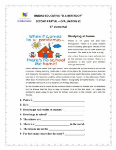 Interactive worksheet Reading comprehension: Studying at home.