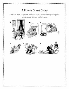 Interactive worksheet Funny Crime Story
