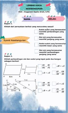 Interactive worksheet Kesebangunan