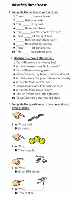 Interactive worksheet Pronouns-this-these-that-those