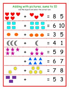 Interactive worksheet Adding with pictures 1