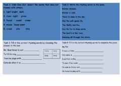 Interactive worksheet Poetry with Languange play