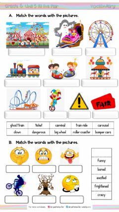 Interactive worksheet 6.5. At the Fair Vocabulary