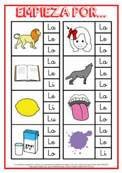 Interactive worksheet Empieza por L