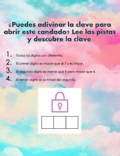 Interactive worksheet Adivina la clave